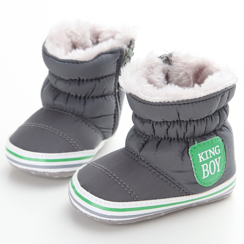 Warm Lovely Baby Snow Boots Boys First Walkers Soft Soled Antiskid Plus Velvet Winter Baby Shoes Girls Toddler Shoes 0-18 Months<br><br>Aliexpress