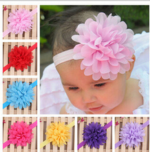 Newborn Kids Girls Satin Ribbon Flower Headbands Photography Props child Kids Headband children Accessories A107-2