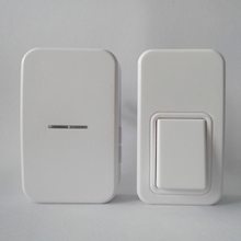 Self-powered button that uses energy from finger press, waterproof,  kinetic remote control door chime, Plug: UK, EU, US, AU