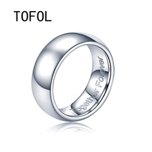 TOFOL Men Women Custom Made Rings Customized Lettering Engrave Tungsten Steel Mens Ring Holder Engraved Her/His Name Finger-ring(China)