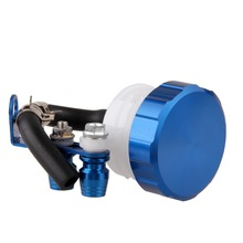 Universal Motorcycle Front Brake Clutch Tank Cylinder Fluid Oil Reservoir Blue Motocross Fuel Petrol Oil Reservoir Bicycle(China)