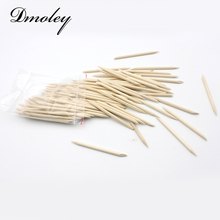 100 Pcs/Packs Nail Art Design Orange Wood Stick Sticks Cuticle Pusher Remover For Manicure Nail Tools Pedicure Care Stick Wooden(China)