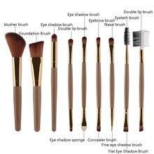 15 Pcs Women Foundation Eyeshadow Eyeliner Cosmetic Makeup Brush Lip Make Up Eye Brushes Set