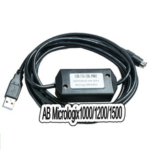 Allen Bradley Micrologix Cable Usb 1761-cbl-pm02, Ab Plc 1000/1200/1500 Series Plc Programming Round 8-pin Cable #bv023