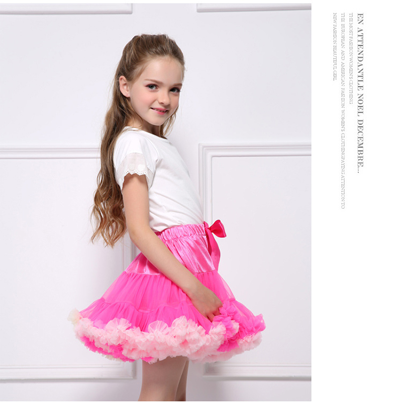 0-10Years Baby Girl Tulle TuTu Skirt Kids Stage Costumes Lace Party Dance Pettiskirt Child Ballet Skirts Miniskirt Princess PP-3