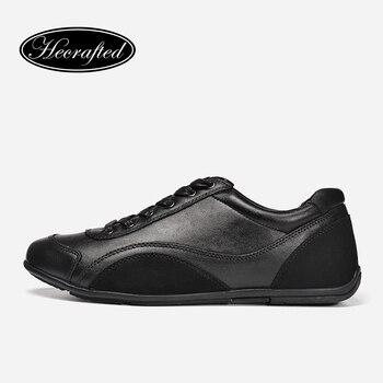 Taille 36 ~ 48 Pleine fleur En Cuir Hommes Chaussures En Cuir Véritable Top qualité Originales Hecrafted Marque Automne Casual Hommes Chaussures #1618