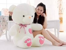 Free shipping 75cm heart to heart teddy bear plush toy gift for lover's teddy bear gift factory supply