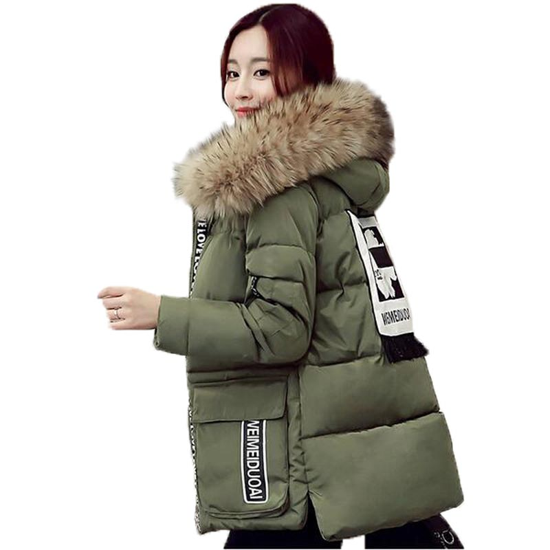 Plus Size 5XL Winter Coat Women 2016 Casual Loose Thicken Fur Collar Cotton-Padded Jacket Warm Long Coat Womens Parka Одежда и ак�е��уары<br><br><br>Aliexpress