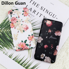 For iPhone 7 Case Classical Retro Flowers Black Soft tpu Phone Back Cover Case for iPhone 6 6S 7 8 Plus Mobile Phone Bags Cases(China)