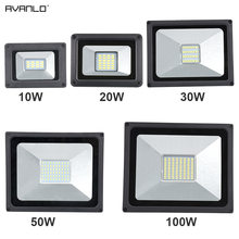 220V LED FloodLight 10W 30W 50W 100W Reflector LED Flood Light Waterproof IP65 Spotlight Wall Outdoor Lighting Warm Cold White(China)
