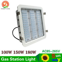 Explosion proof canopy lights finned radiator 100W 150W 180W LED high bay light for GAS Station lights warehouse lamp