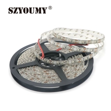 SZYOUMY 5M/Lot IP65 Waterproof 3528 600 LED Strip Light Ribbon Tape 120led/M Warm White Coldwhite Blue Green Red LED Stripe