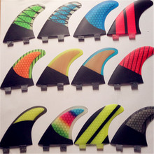 Micfin FCS G5 Surfing fins for surfing with fiberglass honey comb carbon Tri-set pranchas de surf quilhas fcs fin(China)