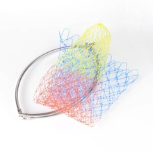 1pcs Colorful Rhombus Mesh Hole Fishing Net Fly Carp Coarse Sea Game Fishing Landing Net Head Foldable Dip Net Best Price(China)