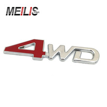 Car Styling 3D Chrome Metal Sticker 4WD Emblem 4X4 Badge Decal SUV Rear Trunk Off-road For Toyota Highlander RAV4 Tiguan Honda