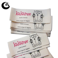 cotton fabric labels/custom clothing tags/clothes label printing/shirt tag/customized garment logo/ribbon/brand  Free Shipping