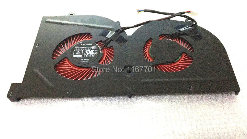 New Original Laptop/notebook GPU Graphics card Cooling Fan For MSI GS62 GS62VR GS63 GS63VR GS73 GS73VR BS5005HS-U2L1 16K1 16K2