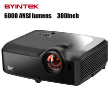 super High Brightness Digital 1080p full HD  300inch 6000ANSI    USB HDMI VGA colorful video DLP Projector Proyector beamer