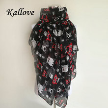 Hot Sale Echarpe Femme Women Shawls And Scarves Ladies Owl Print Winter Scarf Bufandas Mujer Warm Wrap Shawl animal scarves