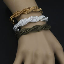 3 pcs/lot Silver/Antique Bronze/Golden Bracelet Diameter 11mm Twisted Type Alloy Bangle Cameo base settings Jewelry Findings
