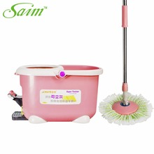 New Arrival Rotating Spin Mop Bucket Microfiber Heads Spinning Mops Pedal Switch Buckets Mop head stainless household floor