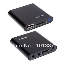 Mini Multi TV Media Player HDMI 1080P HD USB SD MMC RMVB MP3 AVI MPEG Divx MKV Stock Gift &free shipping