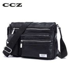 CCZ 2017 New Men Crossbody Bags PU Leather Shoulder Bag Mens Casual Bag High Quality Fashion Trending Male Bag SL8012