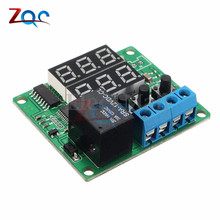 XH-W1219 W1219 DC 12V Dual LED Temperature Controller Multifunction Cycle Timer Control Relay Module Delay Time Switch