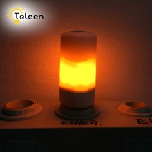 TSLEEN Best Price 1/2/4/8Pcs Flame Effect LED Corn light Bulb Lamp 110V 220V E27 Fire Burning Flicker Lantern Christmas Decor(China)