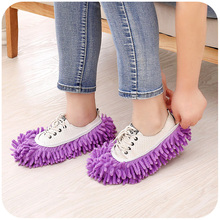 A pair of Mop Slipper Microfiber Lazy House Floor Dust Washable Cleaning Mop Shoe Cover for Home Cleaning Tools limpeza de casa