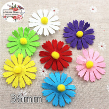 3.6CM Non-woven patches flower Felt Appliques for clothes Sewing Supplies DIY craft ornament