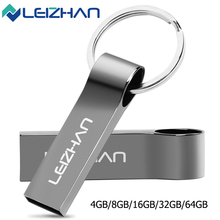 LEIZHAN USB Flash Drive 32G Metal Key Chain 16GB USB Pen Drives 2.0 Computer Memory Stick Waterproof Flash Disk 8GB Pendrive 4GB