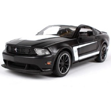 Maisto 1:24 Ford Mustang Boss 302 Black Diecast Model Car Toy New In Box Free Shipping
