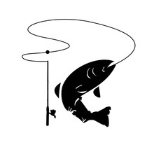 14*13.3CM I Fish Anglers Fishing Trout Salmon Car Sticker Fashion Decorative Window Windshield Decals C6-1319