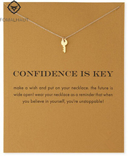 Sparkling Key Pendant necklace Key Fashion Clavicle Chains Statement Necklace For Women FOMALHAUT Jewelry