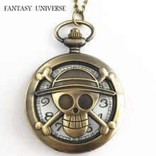FANTASY UNIVERSE Freeshipping wholesale 20pc a lot pocket watch One piece necklace Dia47mm DUUH08(China)