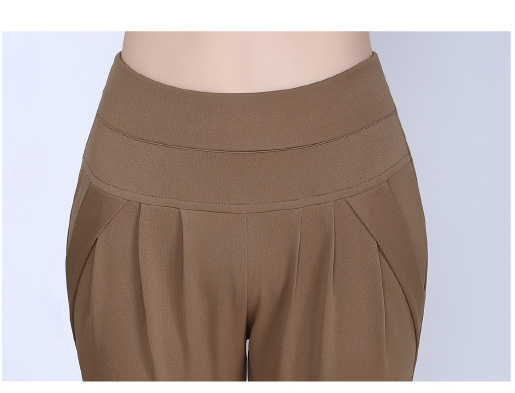 New Autumn Women Casual Loose High Waist Harem Pants Ladies Office Pants Plus Size Trousers S~4XL 5XL 6XL Blue Red Khaki Brown 13