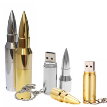 Wholesale full capacity Metal Bullet Shape Genuine 4GB 8GB 16GB 32GB 64GB USB Memory Stick Flash Pen Drive Pendive Free shipping