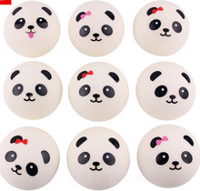 Hot Sales 1 Piece PU 7CM Squishy Charm Panda Bread Phone Strap Lovely Cartoon Mobile phone Pendant Rope Chain