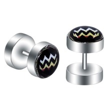 Aquarius Big Cap Fake Ear Tunnel Plugs Nonirritating Cheater Ear Expander Plug for Ear Stretcher Body Piercing Jewelry