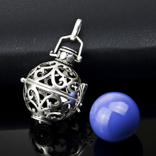 H1-16 Designer Jewelry 16mm Cute Silver Cage with 14mm Harmony Ball Mexican Bola Locket Pendant for Pregnant Women