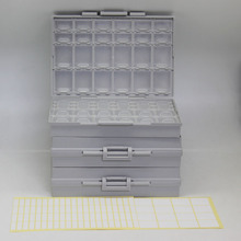 AideTek 3 unit of BOXALL48 lids empty enclosure SMD SMT organizer surface mount DE UK ship plastic part box lables 3BOXALL48(China)