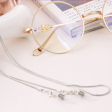 New Arrival Copper String Eyeglasses Chain Reading glasses Metal Cords Sunglasses Spectacles Holders Optical frames Rope F0154(China)