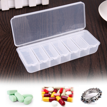 4 Colors Large Travel Pill Medicine Box Cases Portable 7-Day Tablet Container Pill Case Holder Medicine Storage Organizer(China)