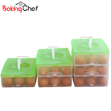 Egg Food Container Storage box plastic Bilayer Basket organizer home kitchen Gadgets Items Accessories Supplies Products