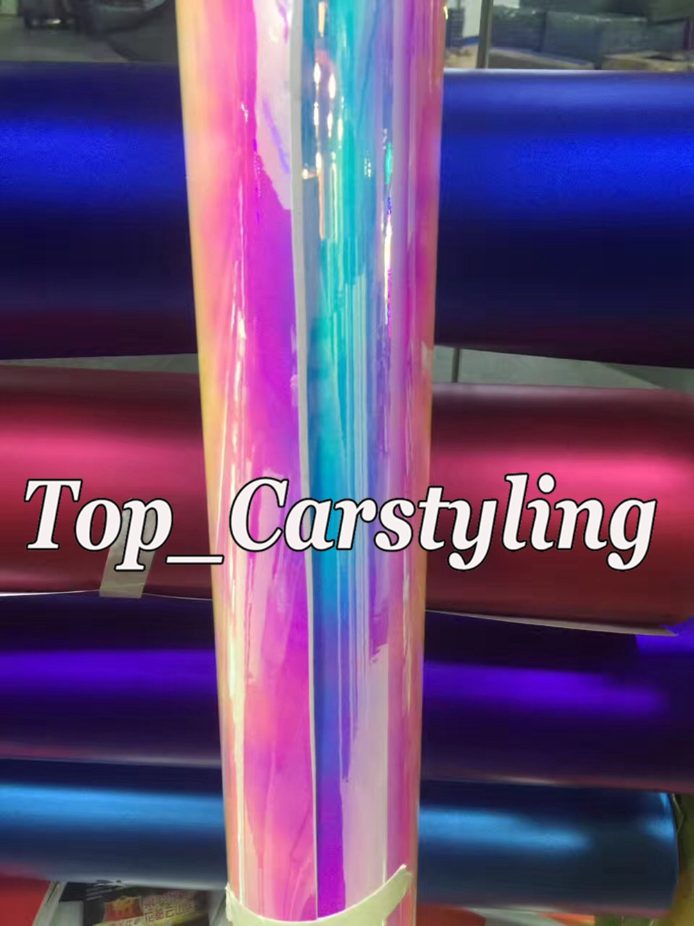 rainbow chameleon chrome high stretch car wrapping film with air bubble free 3m hexis) (2)