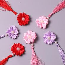Free Shipping Children China style felt hair clip BB clips for baby Kids lovely flower hairpins girls hair accessories 2017 new(China)