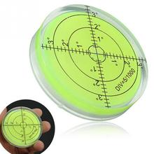 1PCS Universal Green Round Spirit Level Mini Bullseye Bubble Level for tripod furniture frame Meauring Instrument tool