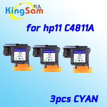 3pcs hotselling for hp 11 cyan printhead C4811A Office Jet HP820/9110/9120/9130/K850 printer head