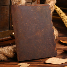 ARCTIC HUNTER Men Wallets business Card Holder Genuine Leather wallet men Purse High Quality coffee short wallet Crazy Horse